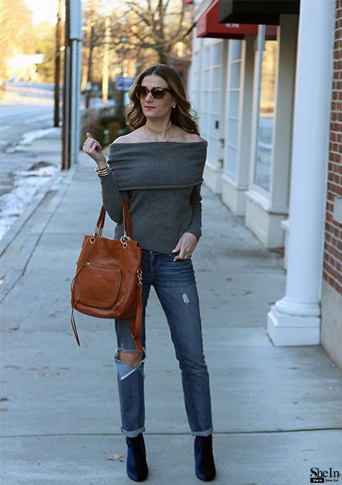 30 Examples How To Wear Off The Shoulder Tops Style Pinterest