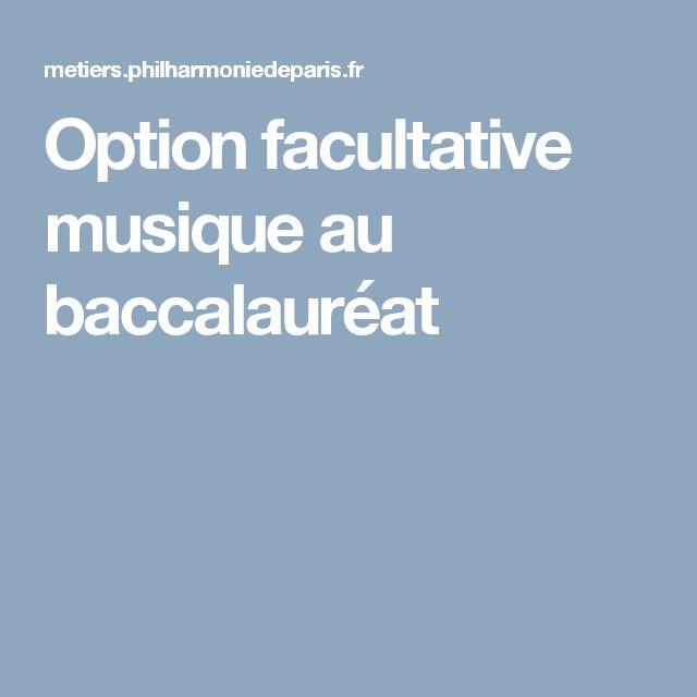 Option facultative musique au baccalauréat