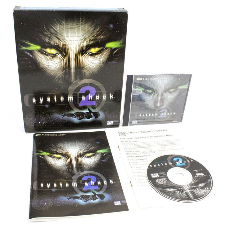 System Shock 2 for PC by Irrational Games, 1999, RPG, Cyberpunk, Sci-Fi, Horror