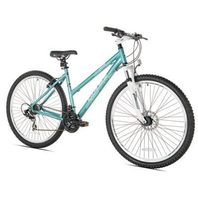Turn any outdoor ride into a speed excursion with the Speed Thruster Excalibur 29-Inch Ladies' Mountain Bike. Boasting an aluminum frame with high-profile alloy rims, this high-performance mountain bike features an adjustable seat and knobby tires.