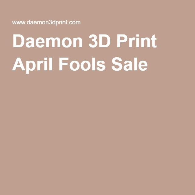 Our April Fools sale is running just for today! We are gifting one of our new MODIFI3D Tool Kits with every purchase of a printer in our sale.