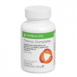 THERMO COMPLETE® Las tabletas Thermo Complete de Herbalife aportan cafeína para despejar la mente y ayudarle a mejorar la concentración y aumentar el estado de alerta.