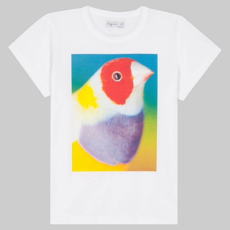 t-shirt Paul Rousteau T-shirt, coupe étroite manches courtes, animé d'une sérigraphie réalisée par Paul Rousteau.