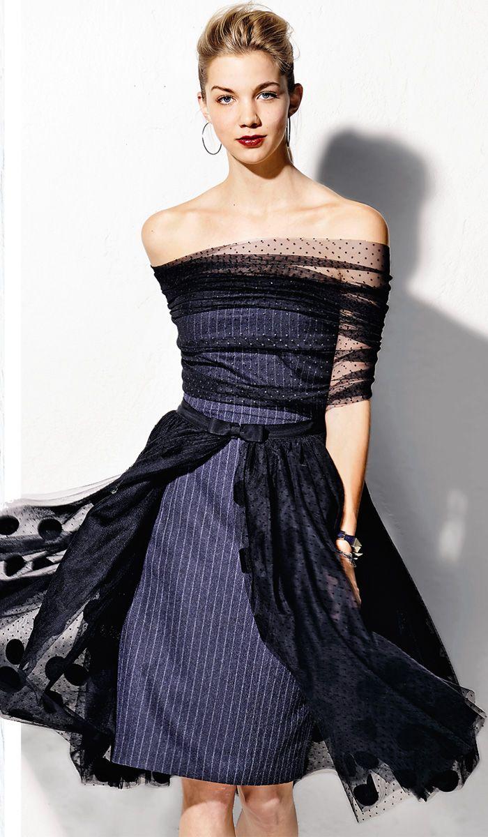 Платье-бюстье - выкройка № 132 из журнала 9/2014 Burda – выкройки платьев на Burdastyle.ru