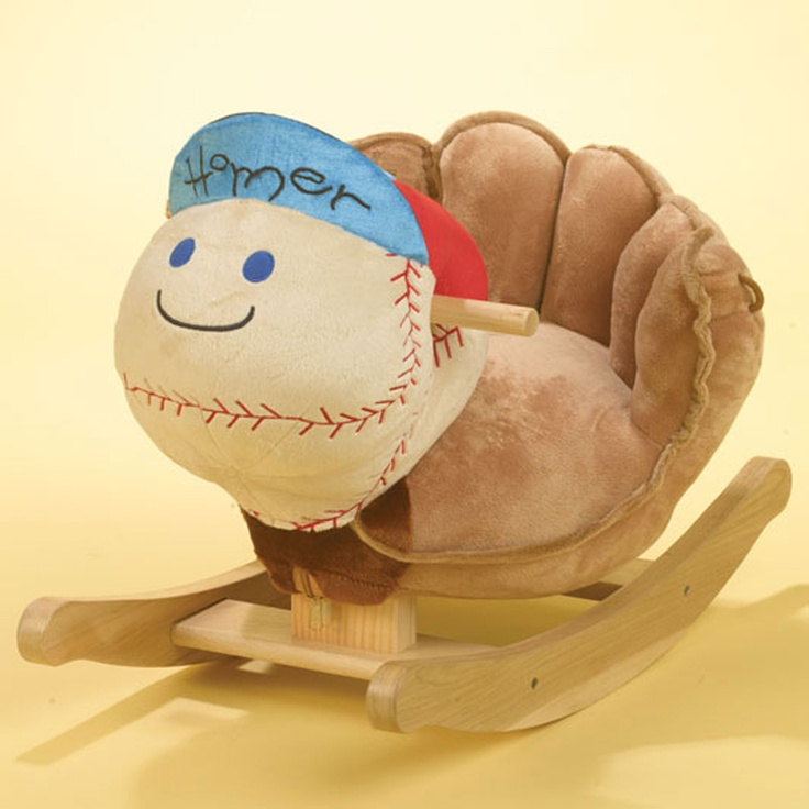 Cute Baseball Theme Rocker named Homer.....for little baseball lovers.