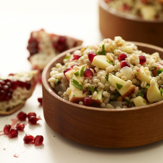 Pearled Barley Salad with Apples, Pomegranate Seeds and Pine Nuts Recipe - Grace Parisi | Food & Wine