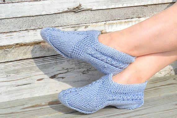 Woolen socks hand knitted Braid