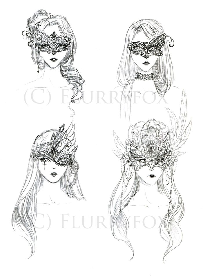 masks designs drawings - Google Search