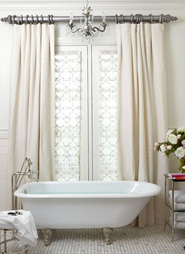 Decesare Design Group  Curtains Around Tub