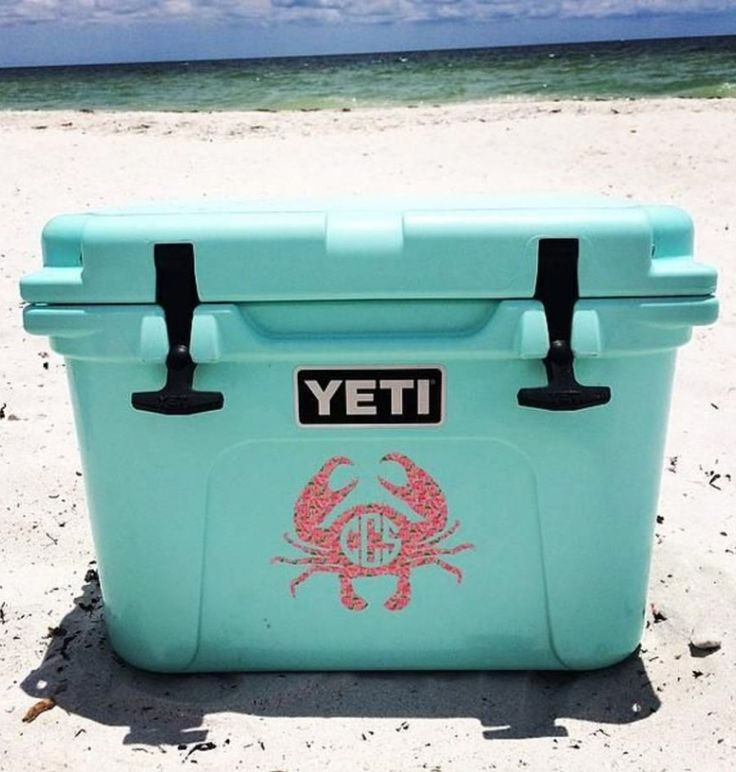 Sea Foam Green YETI cooler - perfect for the beach or any summer activity.  LOVE this color!