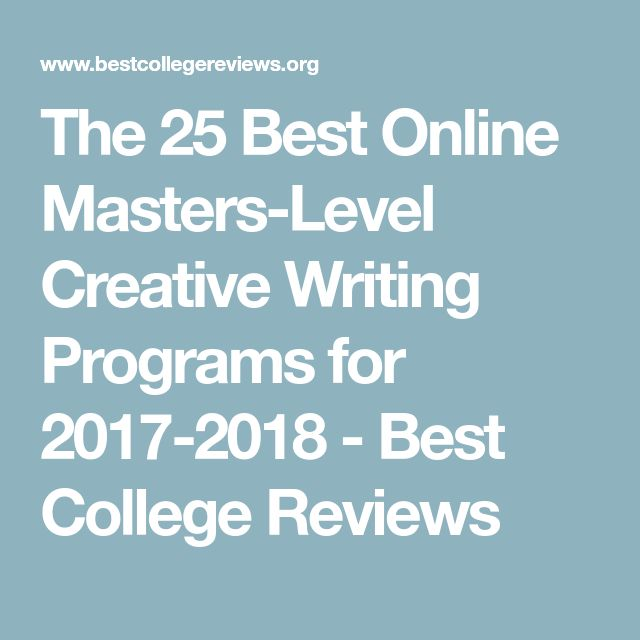 Affordable Online Master's Degrees in Creative Writing