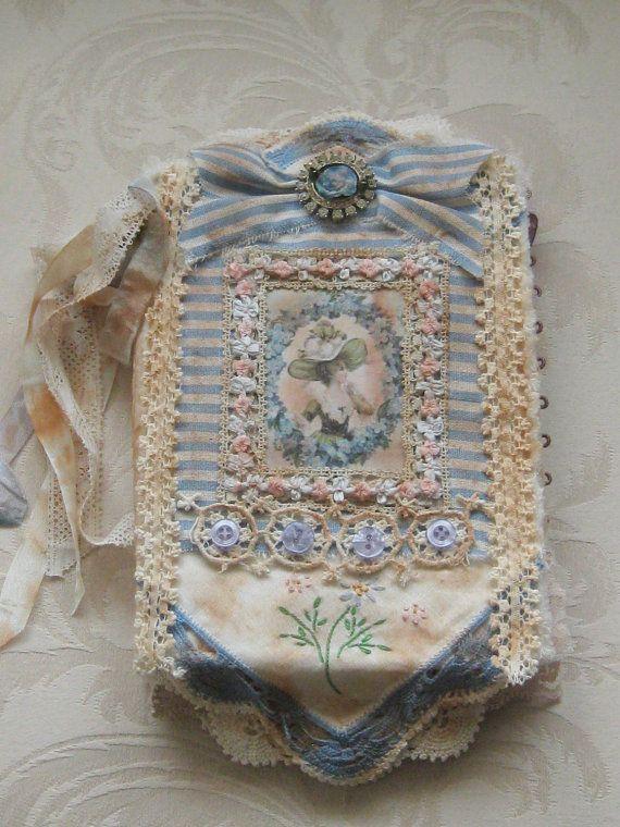 Original Artwork Fabric Journal Collage with by KISoriginals, $169.00