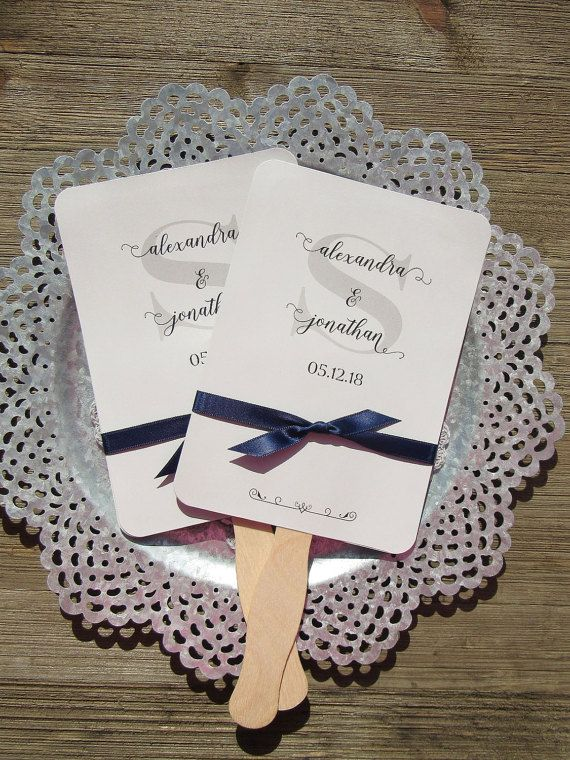 22 best Personalized Wedding Fans Hand Fans images on Pinterest