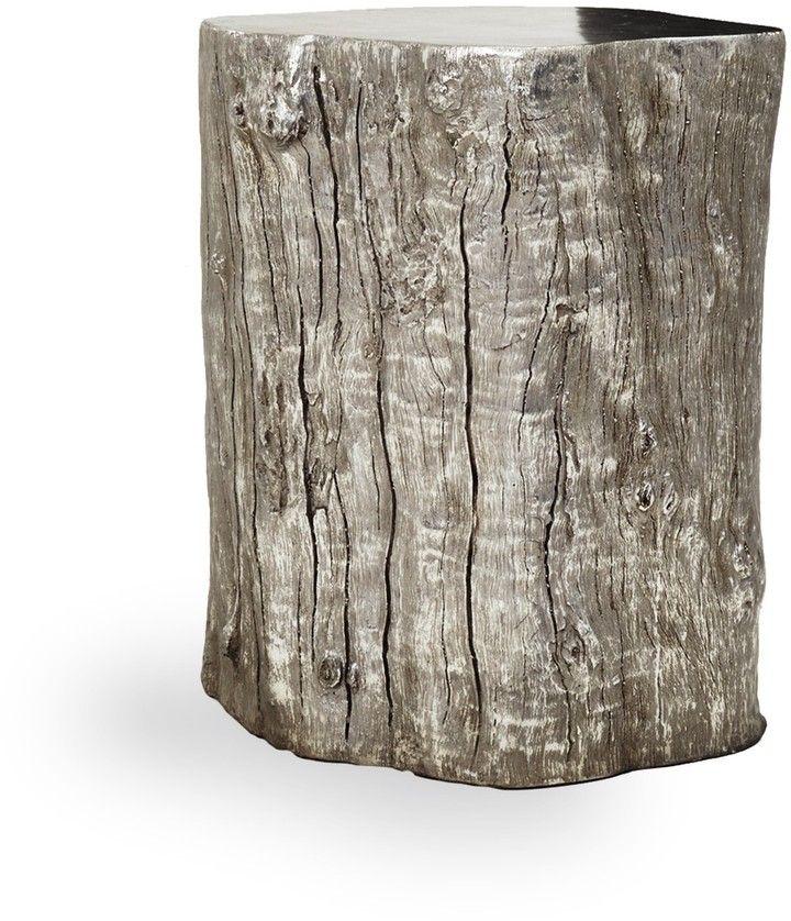 Origin Origin Log Stool Silver Leaf