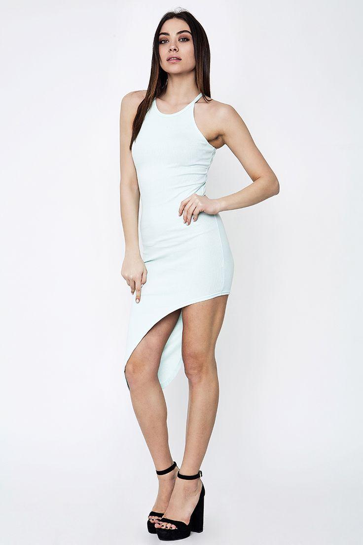 Asymmetric Midi Ribbed Φόρεμα - ΡΟΥΧΑ -> Φορέματα & Φόρμες   Made of Grace