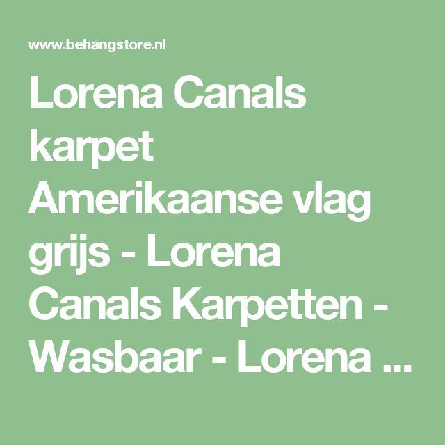 Lorena Canals karpet Amerikaanse vlag grijs  - Lorena Canals Karpetten - Wasbaar - Lorena Canals Karpetten - Lorena Canals  - Behang KIDS en Baby - Behangstore