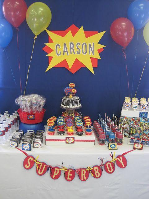 Super Hero Birthday Party Ideas - Dimple Prints