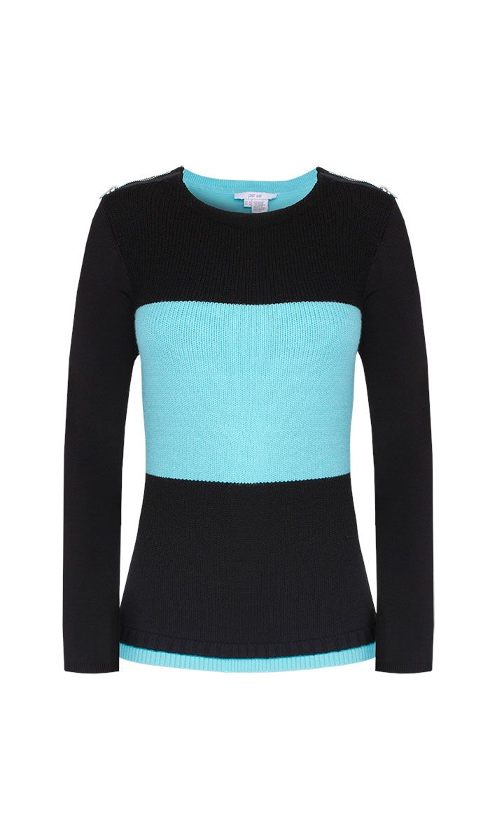 Vigor blue and black sweater | Carlisle Collection | Per Se | Collections | Lookbook | Per Se | Holiday 2013 | 5