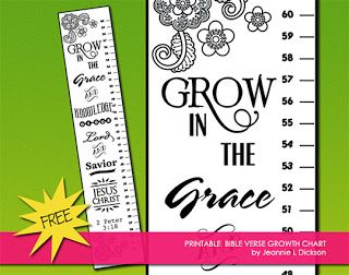 Growth chart - Grow in the grace and knowledge of the Lord and Savior Jesus Christ.