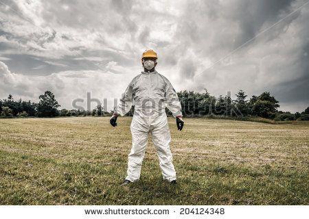 Spooky Chemist Standing On A Field Lagerfoto 204124348 : Shutterstock
