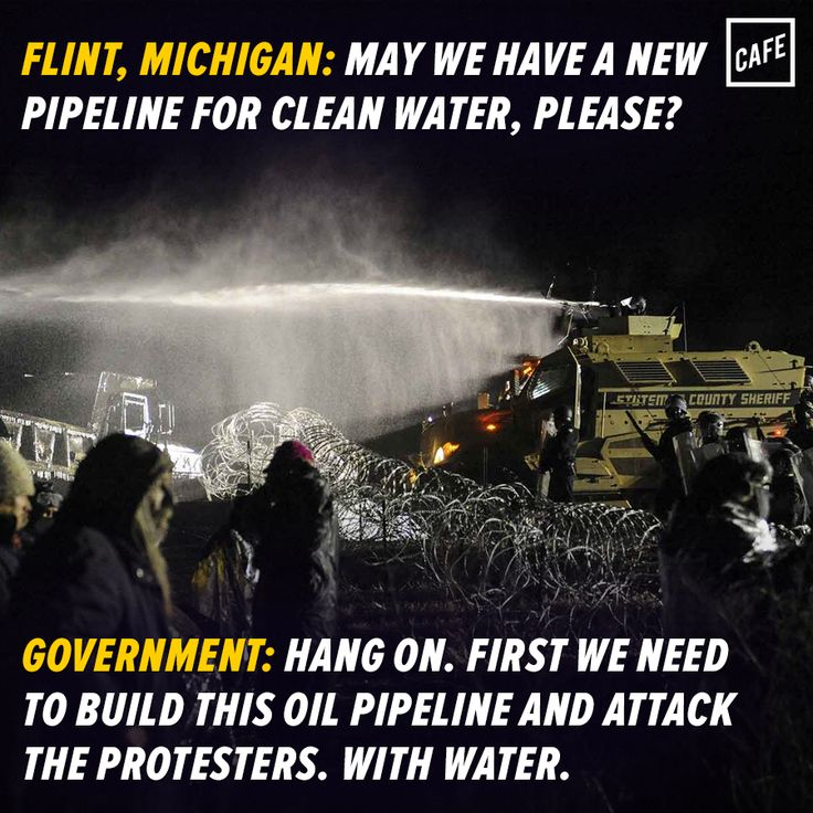 I realize it's different states, budgets, departments, situations, but how messed up is it that a state can dish out this kind of money to push a pipeline that residents do not want while another can't find the funds to repair infrastructure (and stop poisoning its residents)?
