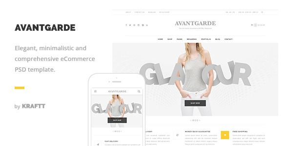 Avantgarde - Modern and Elegant eCommerce PSD Template