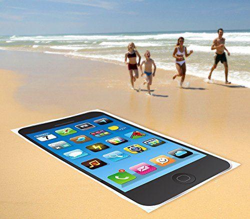 Strandtuch im Smartphone-Design