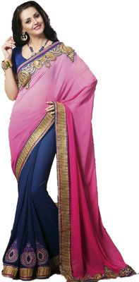 Aparnaa Self Design Embroidered Embellished Georgette Sari - Buy Blue, Pink Aparnaa Self Design Embroidered Embellished Georgette Sari Online at Best Prices in India | Flipkart.com Rs. 4,333 52% OFF Selling Price (Free delivery)