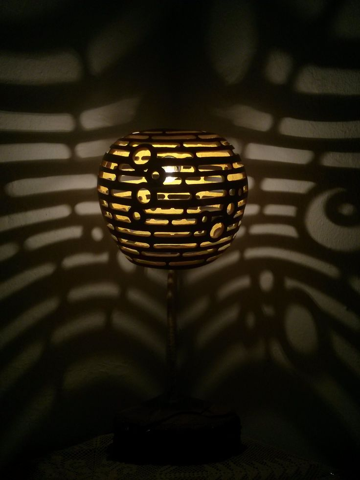 Gourdlight Handcrafted Gourd Lamps Rings,night Lamp