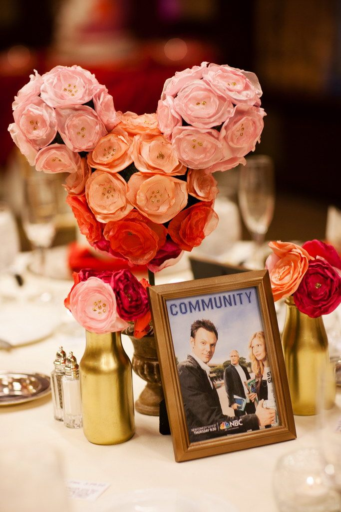 disney themed wedding table settings