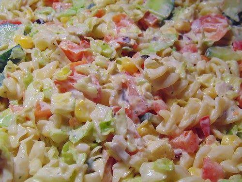 recette de salade de macaronis au jambon fromage ma s. Black Bedroom Furniture Sets. Home Design Ideas