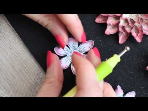 How do I create elegant papercrafted flowers? 5 step by step techniques - YouTube