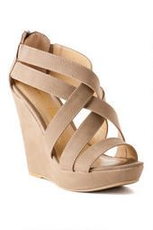 Love these Chinese Laundry SHoes, Major Crush Peep Toe Wedge in Taupe! Would look so cute with any fall outfit!