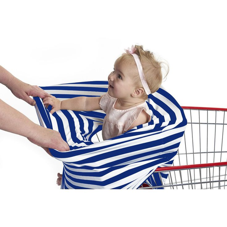"""3-in-1 Car Seat, Shopping Cart & Nursing Cover Free Carry Pouch Included """"Out of the Blue"""""""
