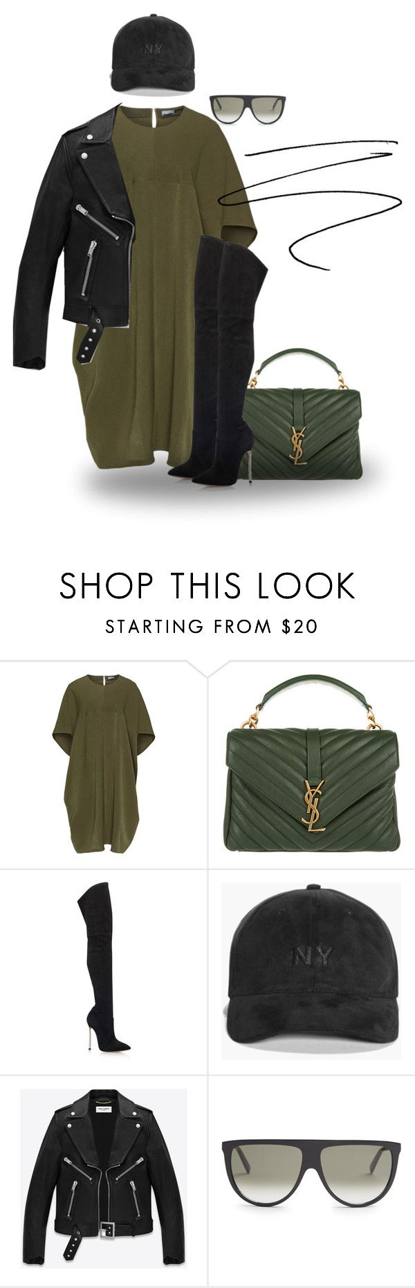 """""""Untitled #65"""" by tai-styles on Polyvore featuring Yves Saint Laurent, Casadei, Boohoo and CÉLINE"""