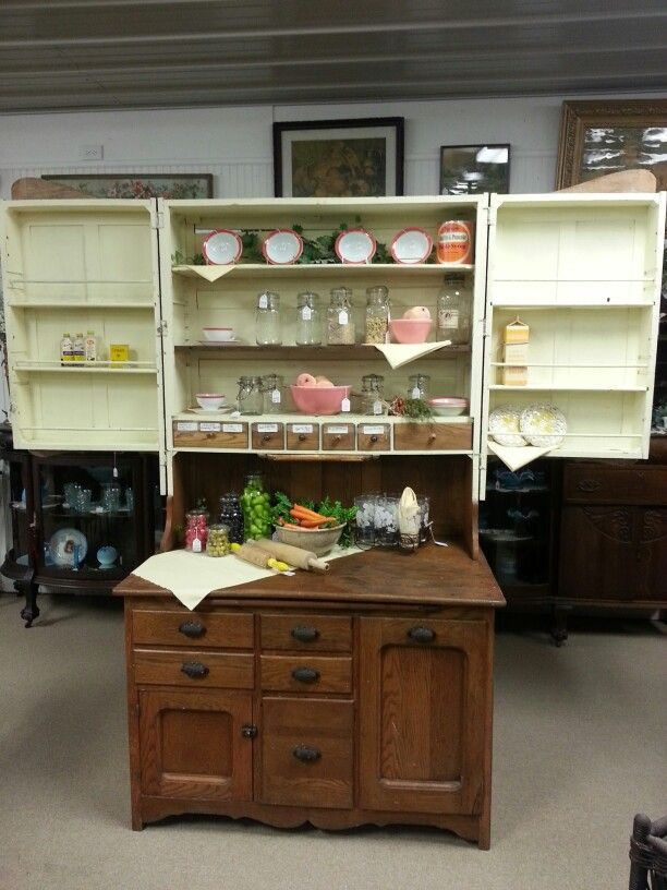 Hawkeye Kitchen Cabinet Made In Burlington Iowa Ca 1890 Cupboard