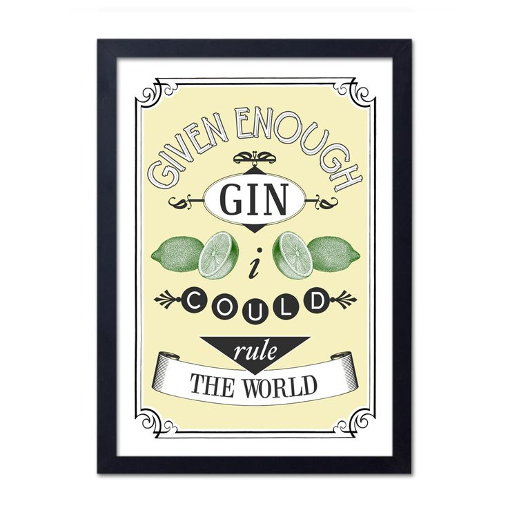 Given Enough Gin Print - Stocking Fillers for her - Gifts for Her - Christmas Gift Guide - The Lost Lanes