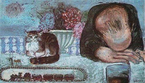 Edip Cansever ve kedisi (Cihat Burak) #istanlook