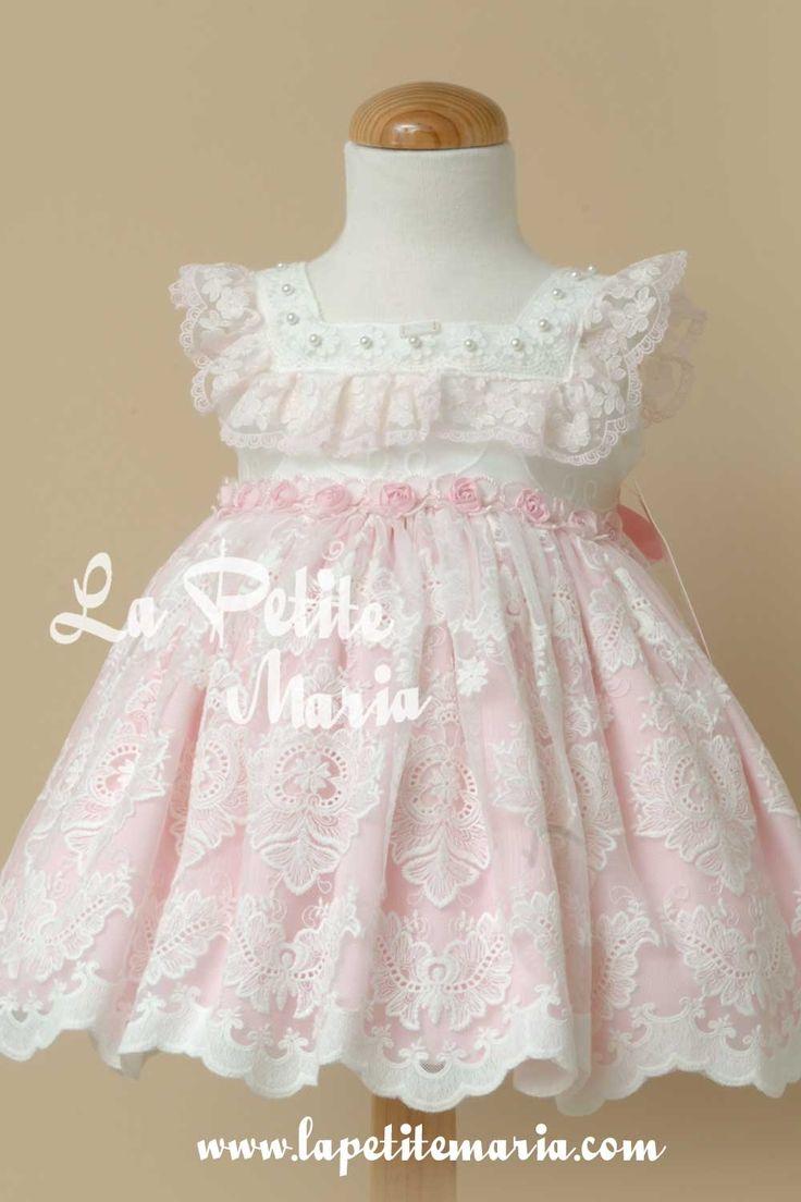 Vestido vuelo ceremonia Marilyn. La Amapola Alta Costura Infantil. Temporada Primavera Verano 2017