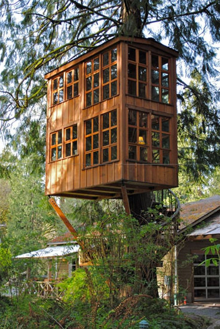 34 best tree house images on pinterest | treehouses, architecture