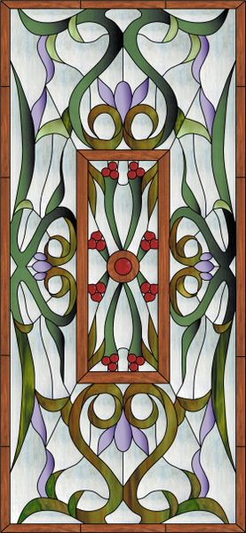 Keller Window Faux Privacy Stained Glass Clings and Window Films