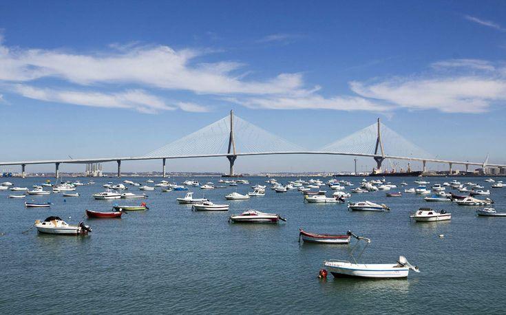 """La inauguración del puente """"Constitución de 1812"""" en imágenes - El puente """"Constitución de 1812"""" que une Cádiz y Puerto Real."""