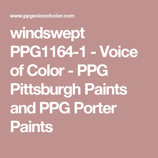 windswept PPG1164-1 - Voice of Color - PPG Pittsburgh Paints and PPG Porter Paints