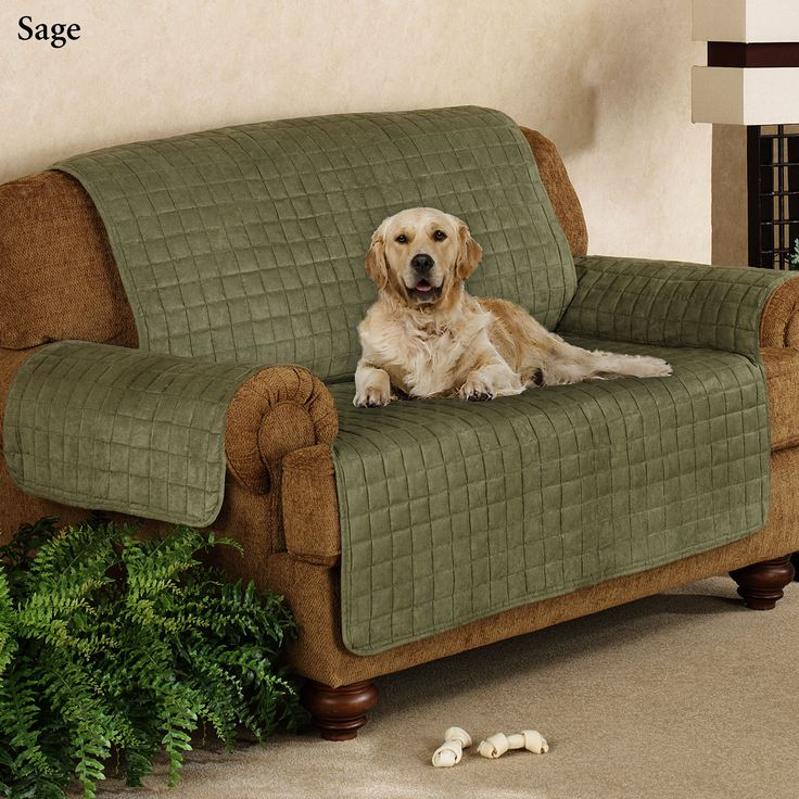 Sofa Table Faux Suede Pet Furniture Covers for Sofas Loveseats and Chairs