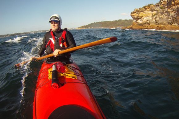 Paddling Sydneys Cliffs at Dawn