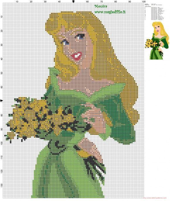 Aurora cross stitch pattern - free cross stitch patterns