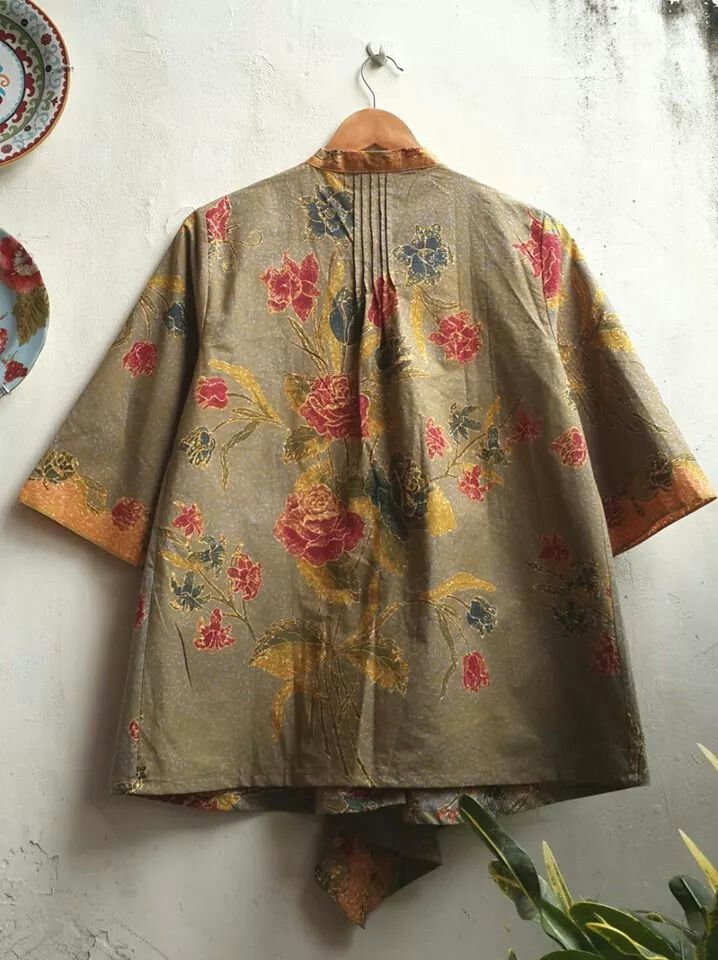 Back Detail Batik Blouse