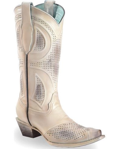 Corral Women's Laser Cut Wedding Boots - Snip Toe - Country Outfitter