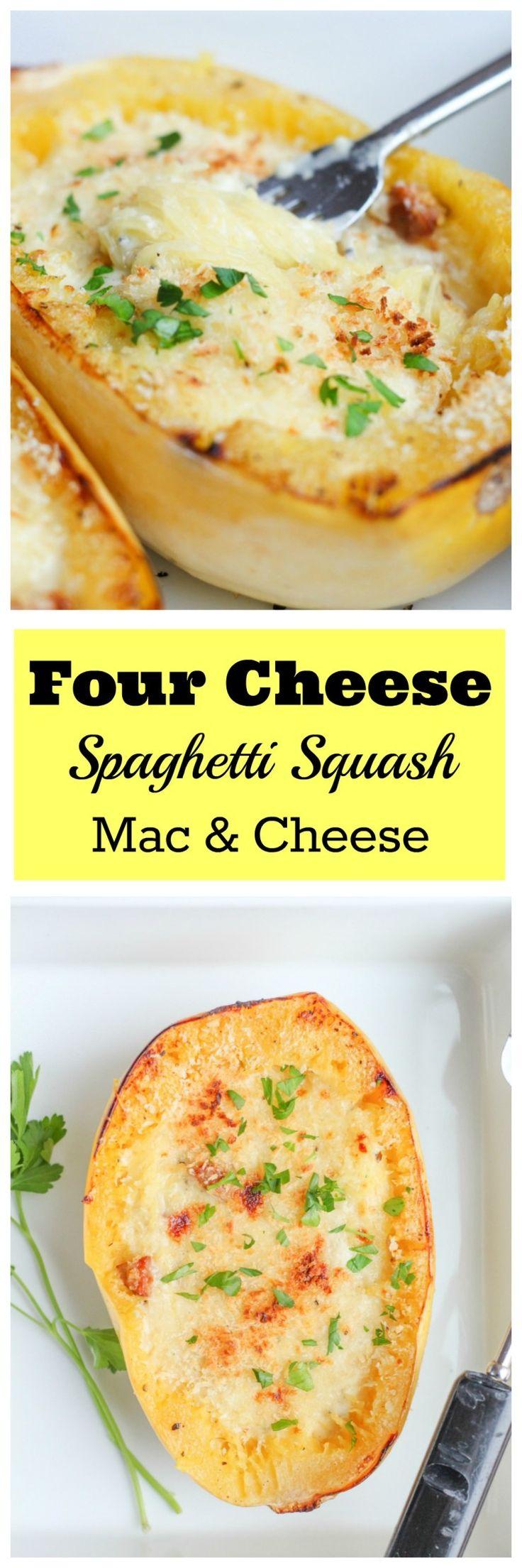 Four Cheese Spaghetti Squash Mac and Cheese