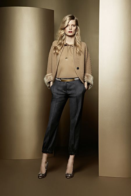 Color combo - grey and camel/tobacco Escada | Fall 2013 Ready-to- · Womens  Fashion ...